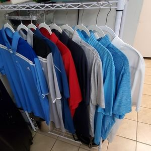 Lot of Golf Polos (9) all size Large.
